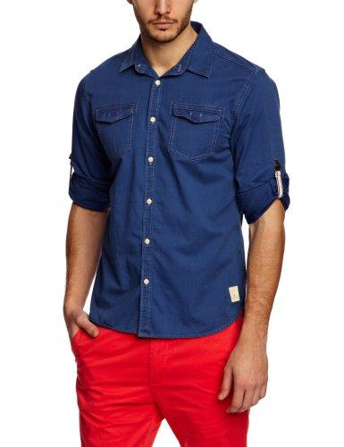 Scotch & Soda Short Sleeve Casual In Feeling Men's Shirt Denim Blue Medium