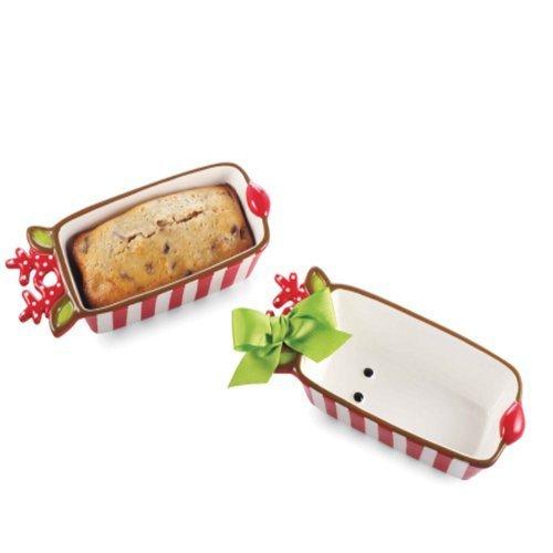 Mud Pie Reindeer Mini Loaf Pan Ceramic