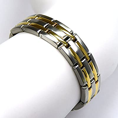 Novoa® New Men's Golf Magnetic Therapy Bracelet in Velvet Box
