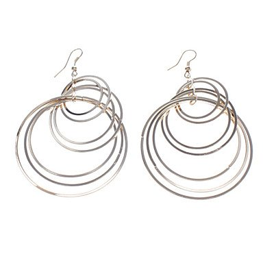 Gloden Big and Small Magic Circle Metal Earring