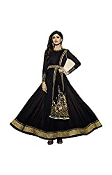 SK Creation Shilpa Shetty Embroidered In Black Color Semi stitched Anarkali suit