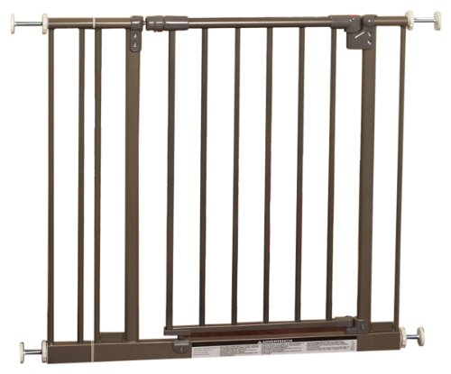 North States Industries Supergate Easy Close Metal Gate, Burnished Steel