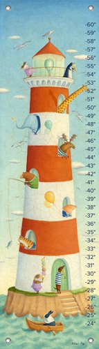 Oopsy Daisy Growth Charts Lighthouse Bay Buddies by Alison Jay, 12 by 42-Inch
