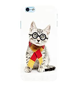Cute Cat with Glasses 3D Hard Polycarbonate Designer Back Case Cover for Apple iPhone 6s Plus :: Apple iPhone 6s+