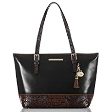 Medium Asher Tote<br>Black Tuscan Tri-Texture
