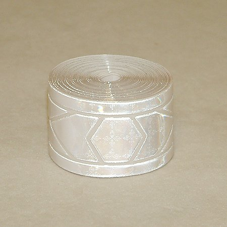 Reflexite GP-340 Garment Retroreflective Trim (sew on): 1-3/8 in. x 10 ft. (Silver-White)