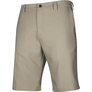 Adidas Climalite Flat-Front Short, 34-Inch, Khaki