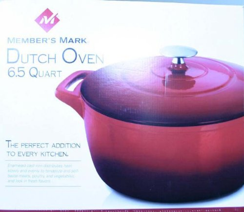 Members Mark Dutch Oven 6.5 Quart Red (Members Mark Cast Iron Cookware compare prices)