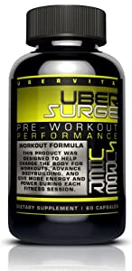 Ubervita Ubersurge Endurance Pre Workout Energy Capsules, 60 Count