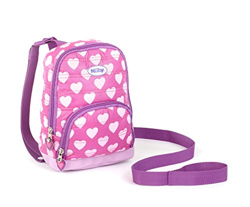 Nuby Quilted Backpack Harness, Child Safety Harness, Quilted Hearts, Pink - 1
