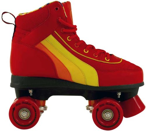 SFR Rio Roller Red Quad Roller Skates - Red/Orange/Yellow - Size JNR13