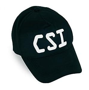 CSI Police special unit figures Baseball CAP Black Carnival