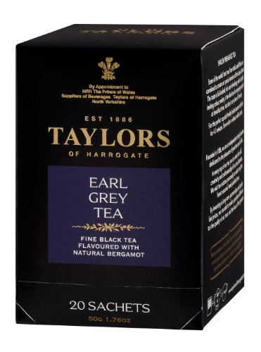 Taylors of Harrogate, Black Tea, Earl Grey Tea, 20 Count Tea Sachet