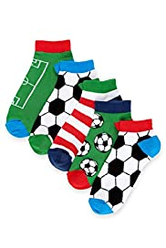 5 Pairs of Freshfeet™ Football Trainer Liner Socks
