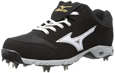 Mizuno Men's Advanced Pro Elite Baseball Cleat,Black/White,9 M US