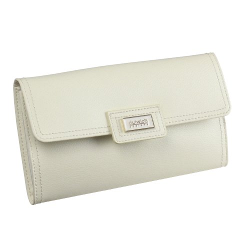 Dulwich Designs Pretty Cream Leather Ladies Jewellery Roll