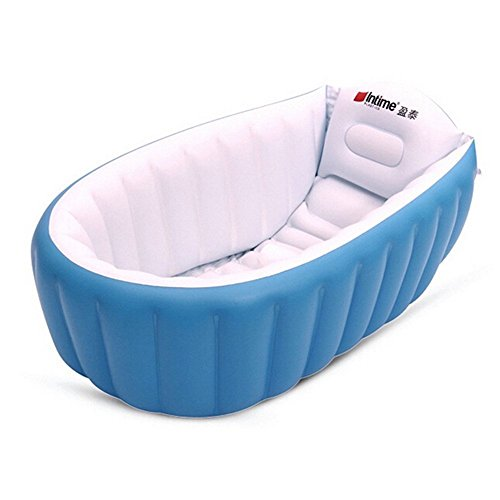 intime swim center paradise inflatable pool hot inflatable tub blue baby toddler baby bathing. Black Bedroom Furniture Sets. Home Design Ideas