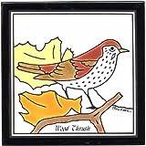 WOOD THRUSH TILE, WOOD THRUSH WALL PLAQUE, WOOD THRUSH TRIVET by Besheer Art Tile, Bedford, New Hampshire, U.S.A.