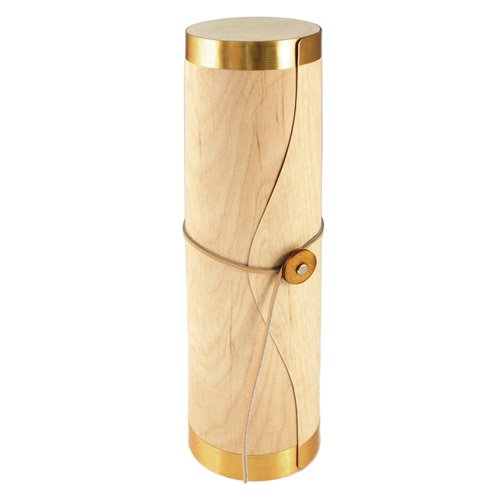 True Fabrications Natural Wooden Tube Style Wine Bottle Carrier Or Holder For Gift Giving Or Storage - Holds 1 Bottle front-528770