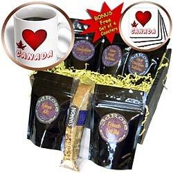 SmudgeArt Canada Art Designs - I Love Canada - 1 - Coffee Gift Baskets - Coffee Gift Basket