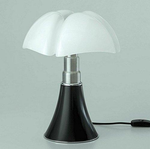 Martinelli Luce 620/J/MA Minipipistrello Lampada da Tavolo o da Terra a Luce Diffusa, 9W, LED,, Acrilico, Nero
