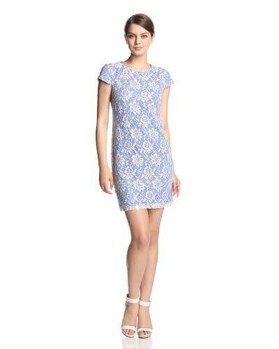 Ivy & Blu Women's Lace Contrast Shift Dress