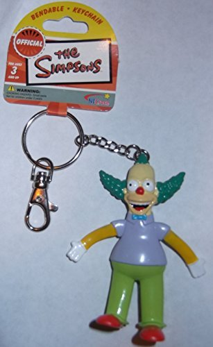 The Simpsons Krusty the Clown Bendable Key Ring 2006