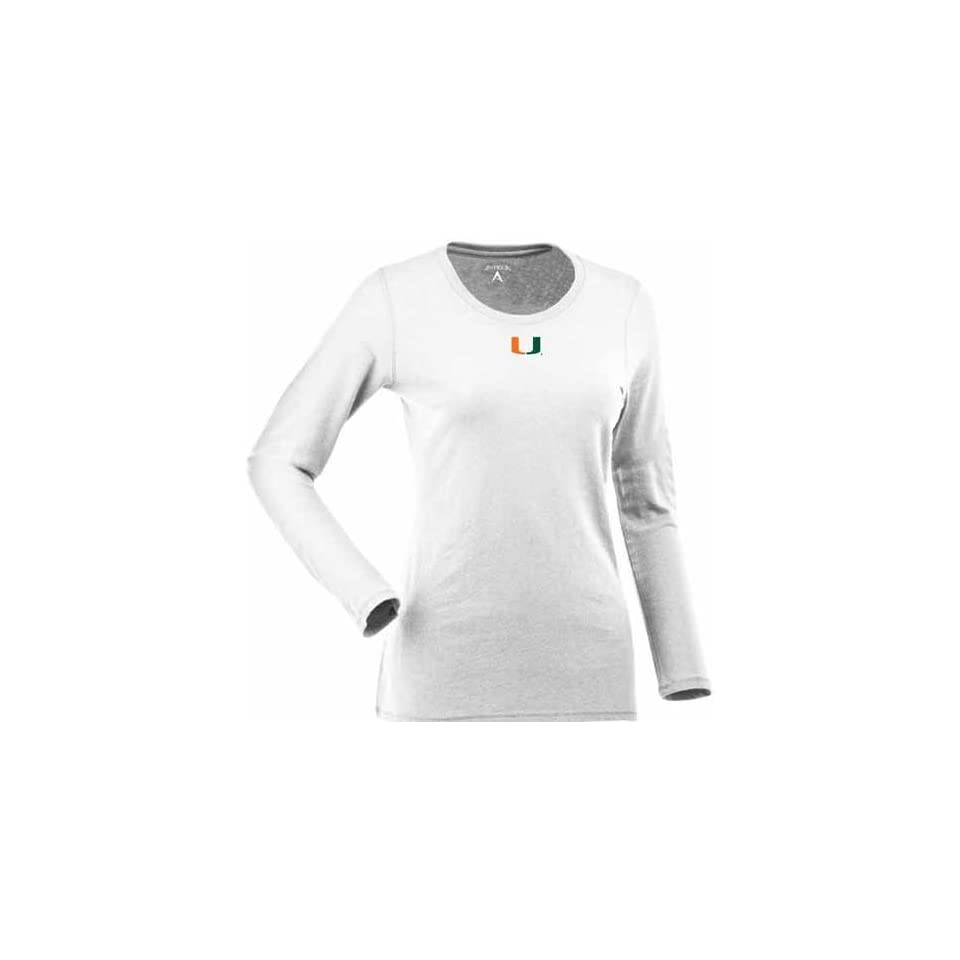 Miami Womens Relax Long Sleeve Tee (White)