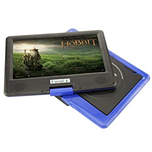 9.5 inch Portable CD VCD DVD Player 16:9 TFT LCD Screen 180 Degree Swivel Support MP3 WMA MP4 Format
