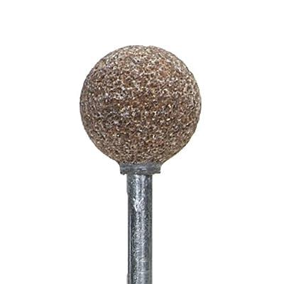 "Norton Pacesetter Vitrified Bond Abrasive Mounted Point, Aluminum Oxide, B121 Shape, 1/8"" Spindle Diameter, 1/2"" Ball Diameter, Grit 60 (Pack of 5)"