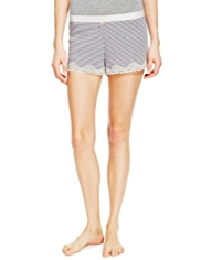 Lace Trim Thermal Pyjama Shorts
