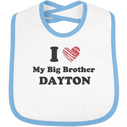 I Love My Big Brother Dayton: Infant Rabbit Skins Contrast Trim Bib (Dayton Brothers compare prices)
