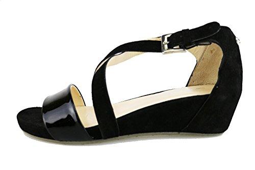 SAMSONITE sandali donna beige / nero camoscio (36 EU, Nero)