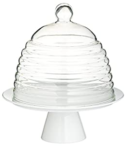 Kitchen Craft 25cm Sweetly Does It Glass Dome Cake Stand
