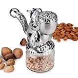 Rsvp NUT Grinder Cast Aluminum Squirrel with Glass Base