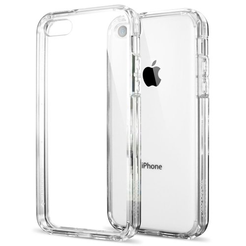 iPhone 5C Case, Spigen® [AIR CUSHION] ULTRA HYBRID Series [Crystal Clear] Clear Back Panel for iPhone 5C - Crystal Clear (SGP10675)