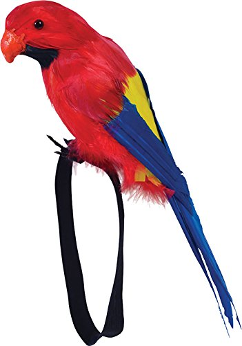 Pirate Fancy Dress Party Hawaiian Accessory Fake Feather Shoulder Wrist Parrot