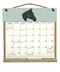 wooden refillable horse wall calendar holder filled with a 2017 calendar and an. Black Bedroom Furniture Sets. Home Design Ideas