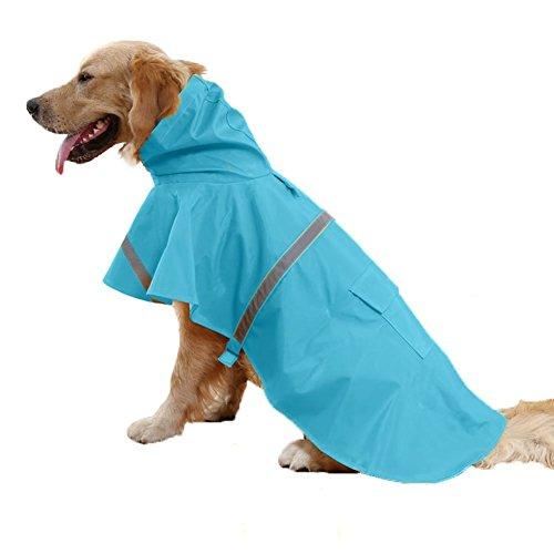 REXSONN® Hoodie Hund Regenmantel Haustier Regenmantel Regenjacke Hunderegenmantel Wasserdicht Kleidung