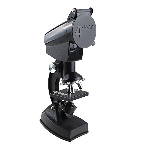 Agptek® Educational Biological Projection Microscope 300X-600X-1200X With Light Great For Home School Student Use