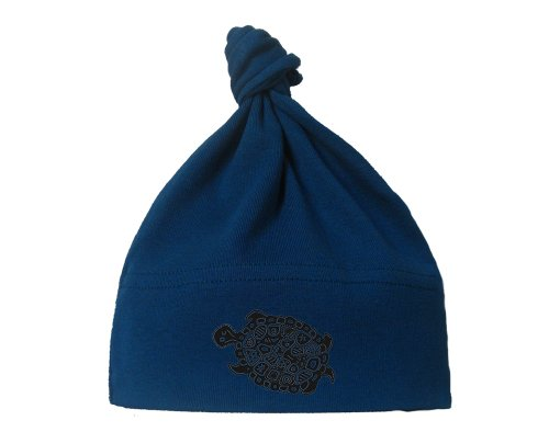 Karmabee Turtle Organic Baby Hat One Size Galaxy front-697195