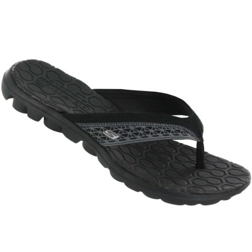 Skechers Women's On The Go Escape Flip Flop,Black,6 M US