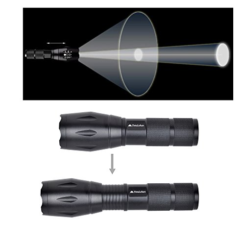 TotaLohan Tactical Flashlight Rechargeable 18650 Battery Included And With C