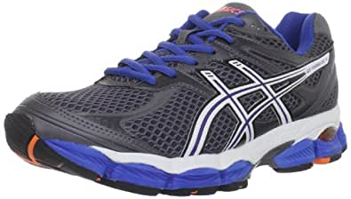 ASICS Men's GEL-Cumulus 14 Running Shoe,Storm/White/Royal (8, Storm/White/Royal)