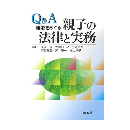 大江千佳弁護士 共著「Q&A 離婚をめぐる親子の法律と実務」 (清文社)