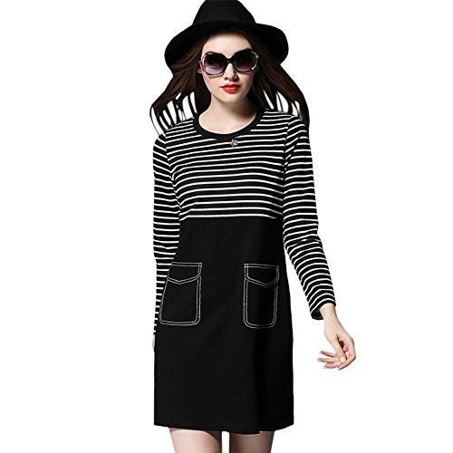 vestire Liyang fragrante striscia vento tasca allentata lunga sezione maglione di lana 298
