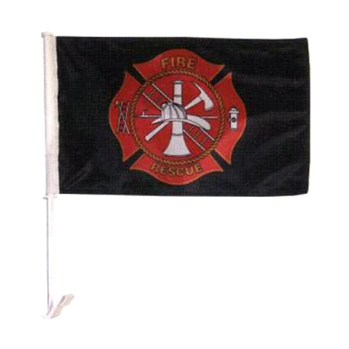 In the Breeze Fire Rescue Car Flag