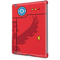 Pokemon GO Team Valor Themed Pokedex Hard Plastic Snap On Back Tablet Case Cover For Apple iPad 2 / 3 / 4 Custodia