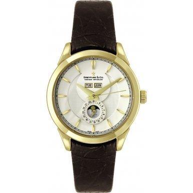 Dreyfuss & Co DGS00069/03 DGS00069-03 - Orologio da polso da uomo, cinturino in acciaio inox colore marrone