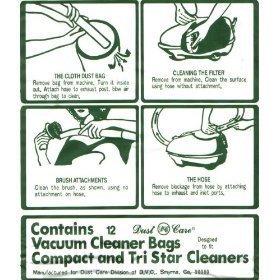 Generic Compact/Tristar Vacuum Bags Microfiltration with Closure - 12 Pack (Generic Vacuum Bags compare prices)